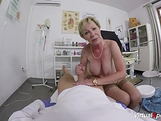 Grandmother, Masturbation, Hospital, Cumshot, Couple, Blonde, Patient