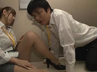 Japanese, Asian, At work, Blowjob, Office, Lick, Milf
